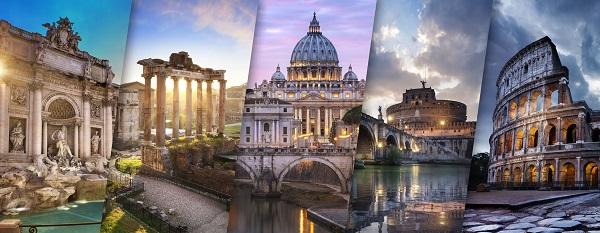 plakat Włochy krajobraz
