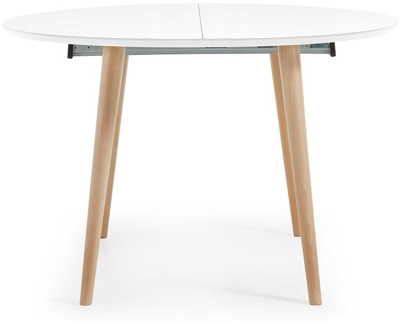 stół okrągły rozkładany